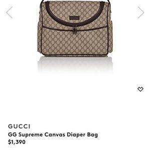 Gucci supreme canvas diaper bag